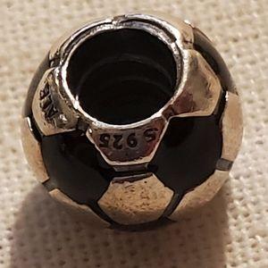Pandora Retired Soccer Ball Charm